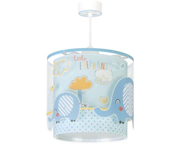 Ango 61332 T - Little Elephant Blue κρεμαστό παιδικό φωτιστικό οροφής διπλού τοιχώματος