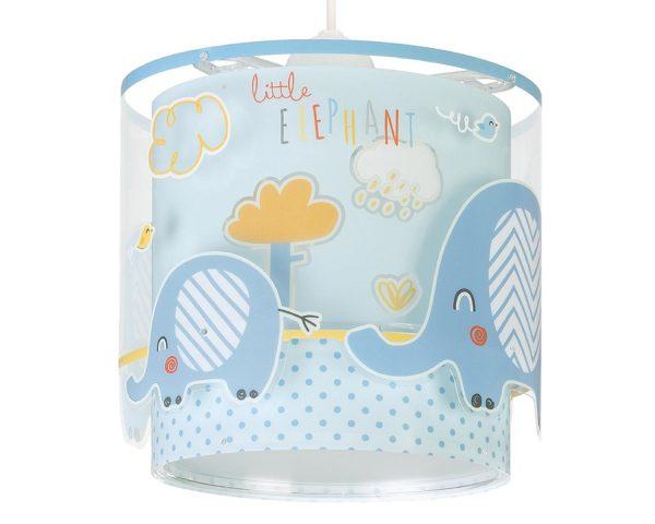 να παίξουν και να κοιμηθούν παρέα με τον αγαπημένο τους ήρωα. Το Little Elephant Blue κρεμαστό φωτιστικό οροφής διπλού τοιχώματος συμπληρώνει τα υπόλοιπα παιδικά φωτιστικά της συλλογής και είναι εξαιρετικά εύκολο στην εγκατάστασή του.