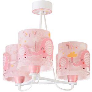 Ango 61337 S - Little Elephant Pink κρεμαστό τρίφωτο φωτιστικό οροφής