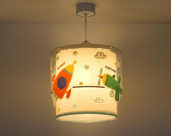 κρεμαστό φωτιστικό οροφής διπλού τοιχώματος συμπληρώνει τα υπόλοιπα παιδικά φωτιστικά της συλλογής και είναι εξαιρετικά εύκολο στην εγκατάστασή του.