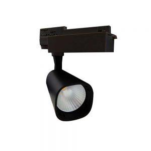Σποτ Ράγας LED Ρυθμιζόμενο 30W 3000K Μαύρο Spotlight 6201