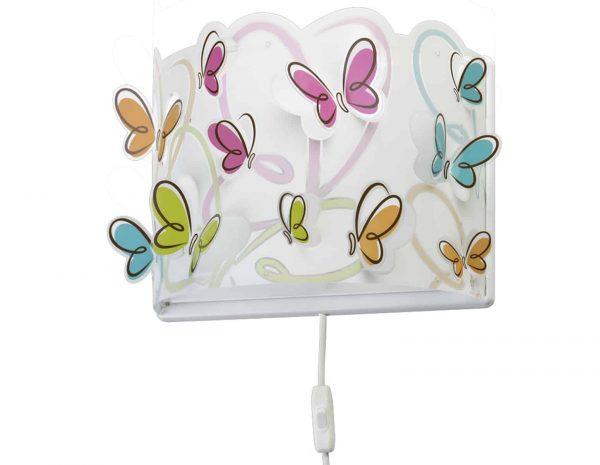 Ango 62148 - Butterfly παιδικό φωτιστικό απλίκα τοίχου διπλού τοιχώματος