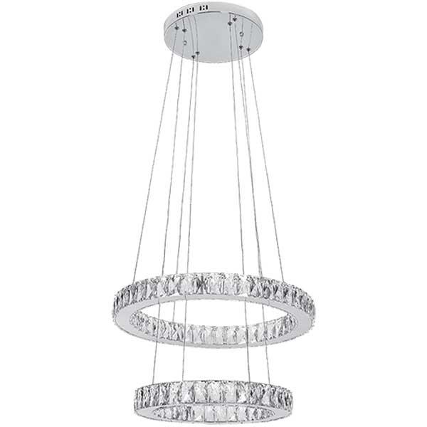Πολυέλαιος LED 72W Με Κρύσταλλα LUX Χρώμιο 955Glossy72 Elmark
