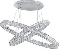 Πολυέλαιος LED 96W Με Κρύσταλλα LUX Χρώμιο 955Glossy96 Elmark