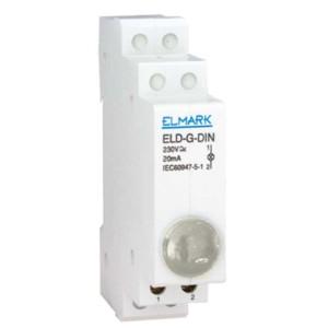 Ενδεικτική Λυχνία Ράγας LED Διαφανής Elmark ELD - R - DIN