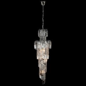 Φωτιστικό 6Φ Leyla Μεταλλικό με Κρύσταλλα Πολυτελείας Χρώμιο 955LEYLA6/CH