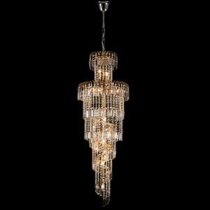 Φωτιστικό 13Φ Leyla Μεταλλικό με Κρύσταλλα Πολυτελείας Χρώμιο 955LEYLA13/CH