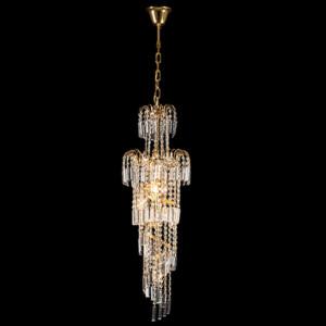 Φωτιστικό 6Φ Leyla Μεταλλικό με Κρύσταλλα Πολυτελείας Χρυσό 955LEYLA6/GD