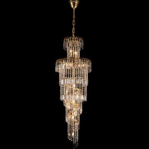 Φωτιστικό 13Φ Leyla Μεταλλικό με Κρύσταλλα Πολυτελείας Χρυσό 955LEYLA13/GD