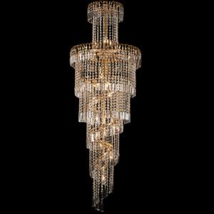 Φωτιστικό 17Φ Leyla Μεταλλικό με Κρύσταλλα Πολυτελείας Χρυσό 955LEYLA17/GD
