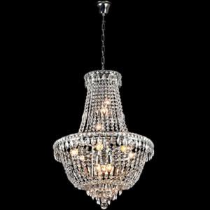 Φωτιστικό 12Φ Dina Μεταλλικό με Κρύσταλλα Πολυτελείας Χρώμιο 955DINA12/CH