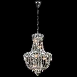 Φωτιστικό 8Φ Dina Μεταλλικό με Κρύσταλλα Πολυτελείας Χρώμιο 955DINA8/CH