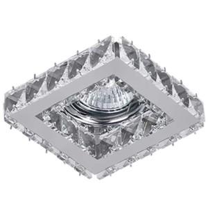 Σποτ Χωνευτό Σταθερό Κρύσταλλο Σκαλιστό Τετράγωνο 50mm CR-773 Elmark 925773S/CL