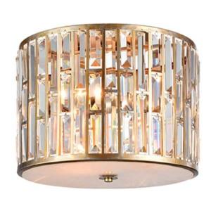 Φωτιστικό Οροφής Janet Με Κρύσταλλα LUX Χρώμιο/Χρυσό 955Janet3 Elmark