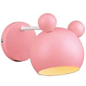 Απλίκα Παιδική Mickey Μεταλλική Ροζ 955MICKEY1W-P