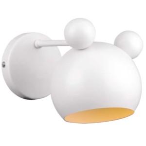 Απλίκα Παιδική Mickey Μεταλλική Λευκή 955MICKEY1W-WH