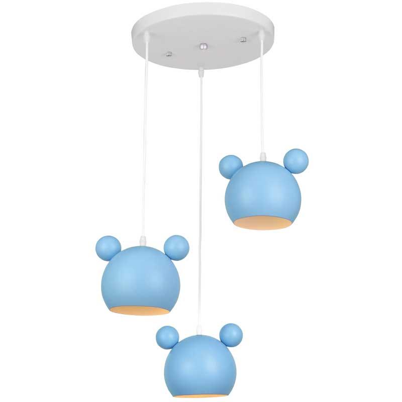 Φωτιστικό Παιδικό 3Φ Mickey Μεταλλικό Μπλε 955MICKEY3/B