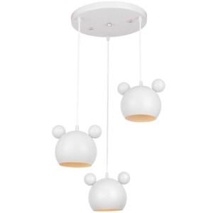 Φωτιστικό Παιδικό 3Φ Mickey Μεταλλικό Λευκό 955MICKEY3/WH
