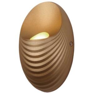 Απλίκα LED 5W Shell Πλαστική Χρυσό Χρώμα 955SHELL1W/G