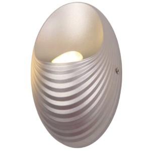 Απλίκα LED 5W Shell Πλαστική Ασημί Χρώμα 955SHELL1W/SL