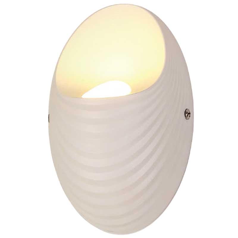 Απλίκα LED 5W Shell Πλαστική Λευκό Χρώμα 955SHELL1W/WH