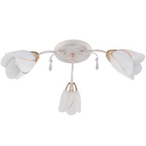 Φωτιστικό Tulip 3Φ Μεταλλικό με Γυαλί και Κρύσταλλα 955TULIP3