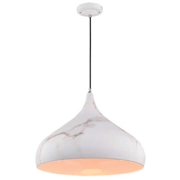 Φωτιστικό Marble Μεταλλικό 1 Φως Vintage Λευκό 955Marble1D