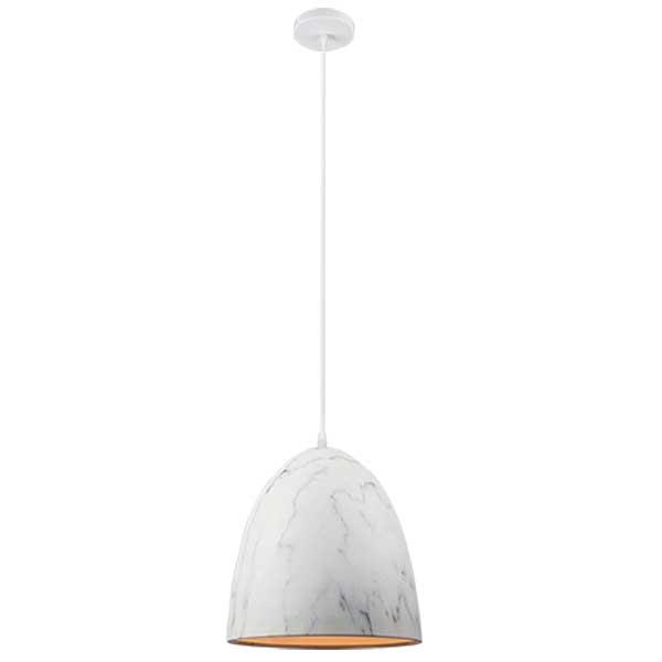 Φωτιστικό Marble Μεταλλικό 1 Φως Vintage Λευκό 955Marble1B