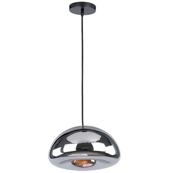 Μεταλλικό Κρεμαστό Φωτιστικό Με Γυαλί Καθρέπτη Χρώμιο 1XE27 ELMARK 955ART1C
