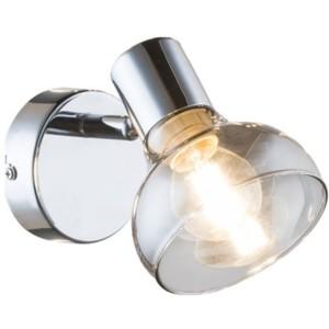 Φωτιστικό Σποτ/Απλίκα Addy Μεταλλικό Χρώμιο-Φιμέ Γυαλί 955ADDY1W/CH Elmark