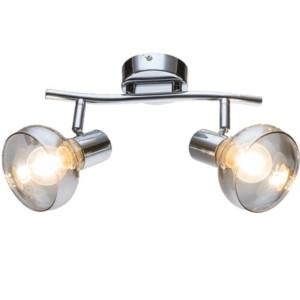 Φωτιστικό Σποτ Addy Μεταλλικό Χρώμιο-Φιμέ Γυαλί 955ADDY2/CH Elmark
