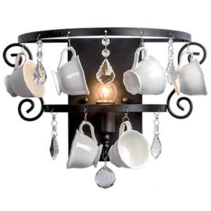 Απλίκα Cups Μεταλλική με Κρύσταλλα και Διακοσμητικά Vintage Μαύρη 955Cups1W