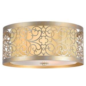 Φωτιστικό Οροφής Jaklin Μεταλλικό με Ύφασμα LUX Χρώμιο 955Jaklin2 Elmark