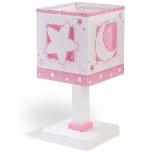 Ango 63231 S - MoonLight Pink κομοδίνου παιδικό φωτιστικό διπλού τοιχώματος