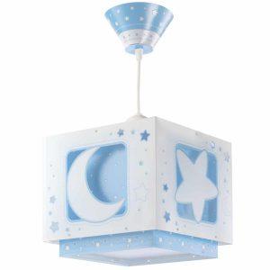 Ango 63232 T - MoonLight Blue κρεμαστό παιδικό φωτιστικό οροφής διπλού τοιχώματος