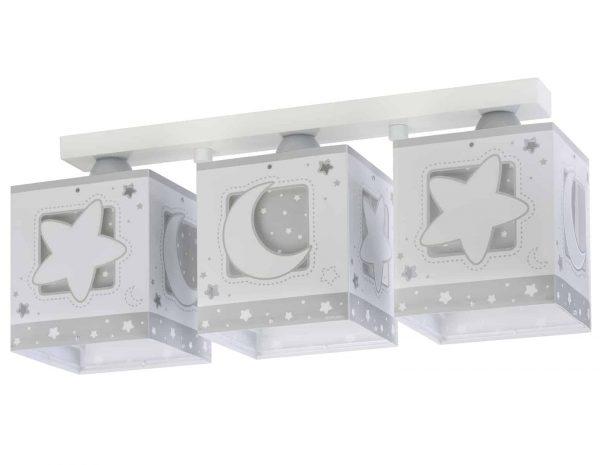 Ango 63233 NE - MoonLight Gray τρίφωτο φωτιστικό οροφής σε ράγα