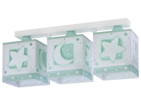 Ango 63233 NH - MoonLight Green τρίφωτο φωτιστικό οροφής σε ράγα