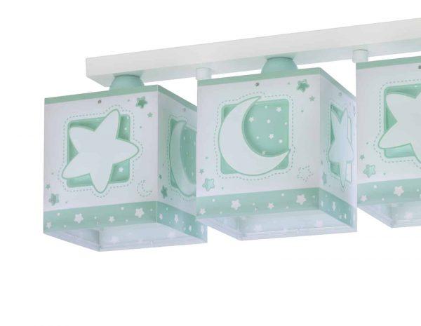 Καλωσορίστε το παιδί σας σε ένα παιδικό δωμάτιο πλημμυρισμένο από μαγεία με αυτό το μοναδικό στο είδος του τρίφωτο φωτιστικό οροφής κατάλληλο για γενικό φωτισμό. Προσθέτει διασκεδαστικό χαρακτήρα και χρώμα σε κάθε παιδικό δωμάτιο. Παρέχει ομοιόμορφο και άπλετο φωτισμό δημιουργώντας περιβάλλον που ενθαρρύνει τα παιδιά να επιδοθούν σε ότι τους αρέσει περισσότερο τόσο στην διασκέδαση όσο και την δημιουργικότητα! Είναι κατασκευασμένο στην Ευρώπη και απόλυτα ασφαλές ώστε τα παιδιά να μπορούν να μελετήσουν