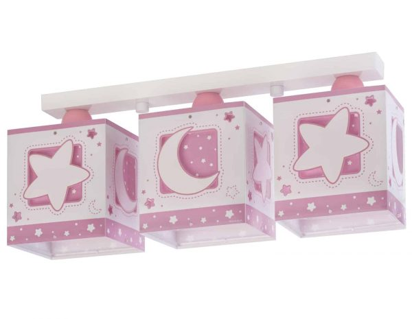 Ango 63233 NS - MoonLight Pink τρίφωτο φωτιστικό οροφής σε ράγα