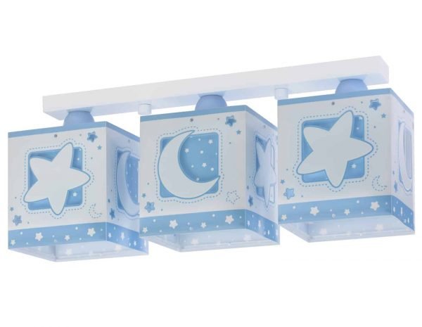 Ango 63233 NT - MoonLight Blue τρίφωτο φωτιστικό οροφής σε ράγα διπλό τοίχωμα