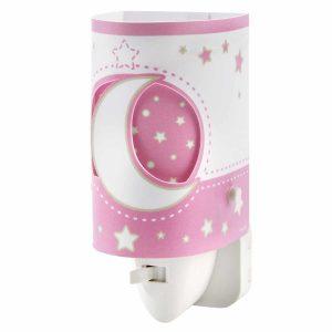 Ango 63235L S - MoonLight Pink παιδικό φωτιστικό νύκτας πρίζας LED