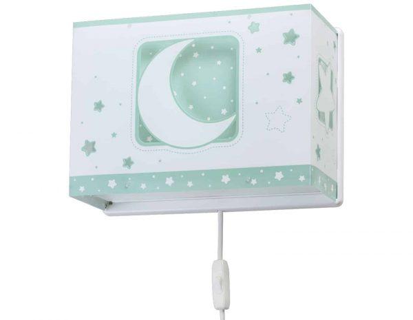 Ango 63238 H - MoonLight Green παιδικό φωτιστικό απλίκα τοίχου διπλού τοιχώματος