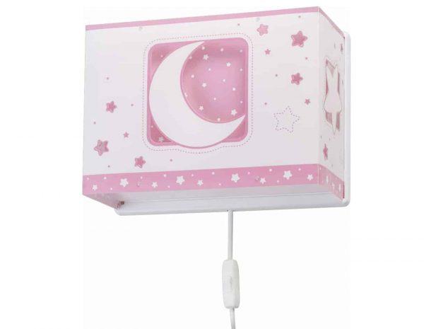 Ango 63238 S - MoonLight Pink παιδικό φωτιστικό απλίκα τοίχου διπλού τοιχώματος