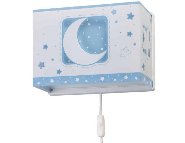 Ango 63238 T - MoonLight Blue παιδικό φωτιστικό απλίκα τοίχου διπλού τοιχώματος