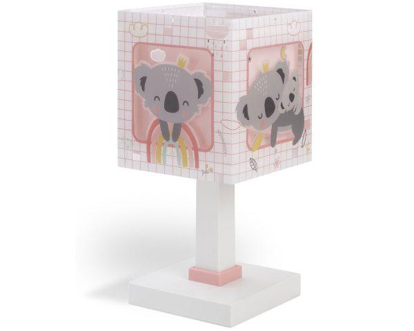Ango 63261 S - Koala Pink κομοδίνου παιδικό φωτιστικό διπλού τοιχώματος