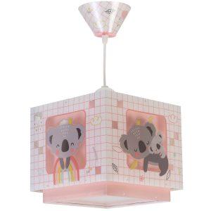 Ango 63262 S - Koala Pink κρεμαστό παιδικό φωτιστικό οροφής διπλού τοιχώματος
