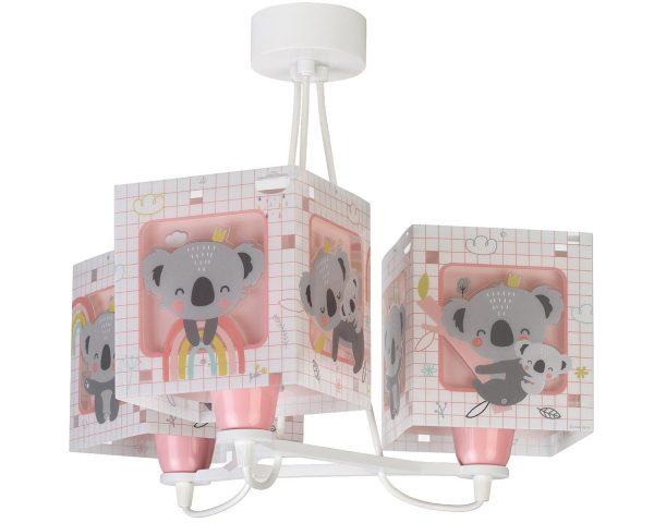 Ango 63267 S - Koala Pink κρεμαστό τρίφωτο φωτιστικό οροφής