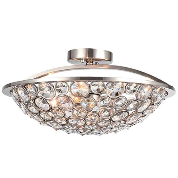 Φωτιστικό Οροφής Djeny Με Κρύσταλλα LUX Χρώμιο 955Djeny3 Elmark