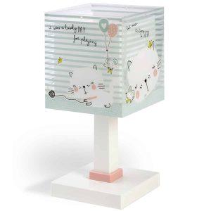 Ango 63321 - Loving Cat κομοδίνου παιδικό φωτιστικό διπλού τοιχώματος