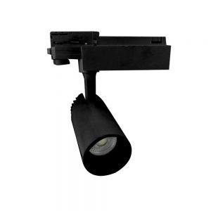 Σποτ Ράγας LED Ρυθμιζόμενο 20W 3000K Μαύρο Spotlight 6343